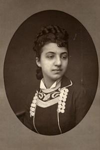France Opera Singer Contralto Erminia Borghi Mamo Old Photo Mulnier 1875