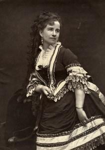 France Opera Singer Soprano Alice Ducasse Old Woodburytype Photo Mulnier 1875