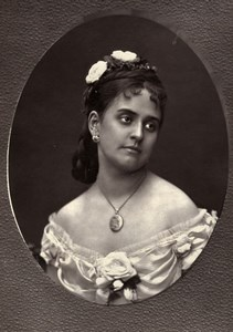 France Opera Singer Soprano Anna de Belloca Old Woodburytype Photo Mulnier 1875