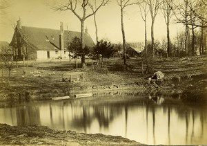 France Around Lille Family House Countryside Pond Old Amateur Photo 1896