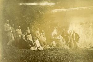 France Lille Family Ducrocq Lesage Group Pond Old Amateur Photo 1896