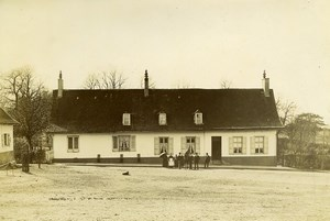 France Around Lille Group in front of House Old Amateur Photo 1896