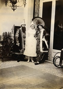 France Lille Family Ducrocq Lesage in Costume Old Amateur Photo 1896
