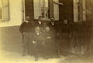 France Lille Family Ducrocq Lesage Group Old Amateur Photo 1896
