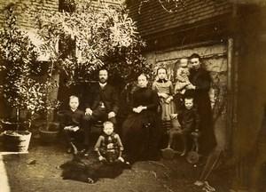 France Lille Family Ducrocq Lesage Group Horse Toy Old Amateur Photo 1896