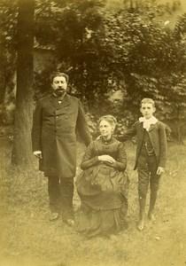 France Lille Family Ducrocq Lesage Group Moustache Old Amateur Photo 1896