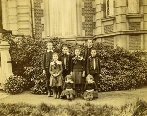 France Lille Family Ducrocq Lesage Children Group Old Amateur Photo 1896