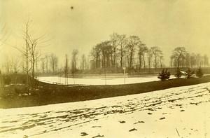 France Around Lille Snow Winter Scene Old Amateur Photo 1896