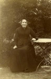France Lille Aimée Ducrocq Lesage Old Lady in Garden Amateur Photo 1896