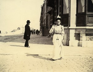 France Malo les Bains Dunkerque Holidaymakers Old Amateur Photo 1896