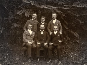 France Lille Family Ducrocq Lesage Men Group Old Amateur Photo 1896