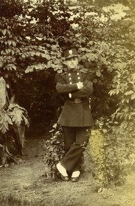 France Lille Military Man in Uniform Old Amateur Photo 1896