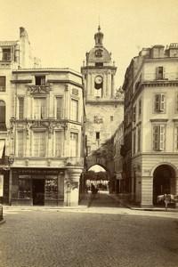 France La Rochelle Rue du Temple Grosse-Horloge Blacksmith Old Photo 1890