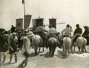 France Provence Camargue Saintes Maries de la Mer Horses Pilgrimage Photo 1931