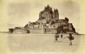 France Mont Saint Michel Marquis de Tombelaine Fishermen Old Photo Neurdein 1890