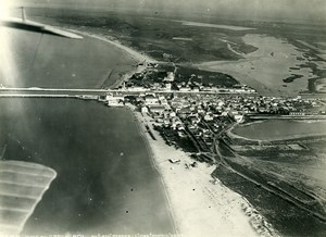 France Le Grau du Roi Beach Pilot Perrier Observer Seive Old Aerial Photo 1920's