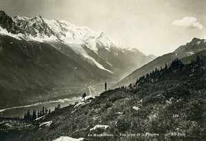 France Mont Blanc from la Flegere Mountain Alps Old Photo Neurdein 1900