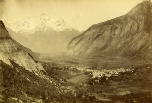 France Isère Bourg d'Oisans Panorama Alps Mountain Old Photo 1890