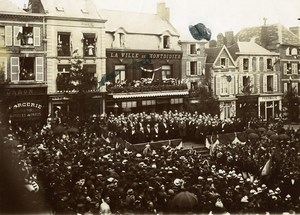 France Somme Montdidier Ceremony Celebrations Old Photo 1900