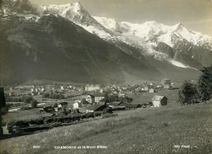 France Alps Chamonix & Mont Blanc Mountain Old Photo Neurdein 1900