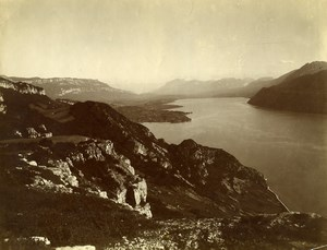 France Savoie Lac du Bourget panorama Ancienne Photo 1890