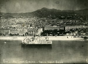 France Nice Casino Seafront Pilot Girard Observer Seive Old Aerial Photo 1920's