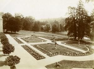 France Oise Longpont Abbey Gardens Castle of Montesquiou Old Photo 1890