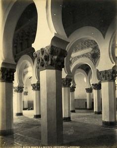 Spain Toledo Santa Maria la Blanca Mezquita Mosque Old Photo Alguacil 1870