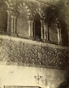 Spain Toledo Architecture Detail Sinagogue of Transito Old Photo Alguacil 1870