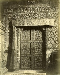 Spain Toledo Cathedral Chapter house Door Sala Capitular Old Photo Alguacil 1870