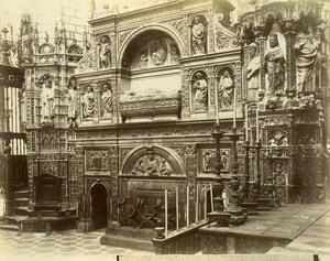 Spain Toledo Cathedral Main Chapel Capilla Mayor Old Photo Alguacil 1870