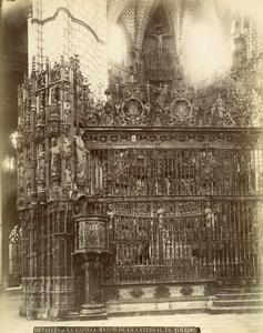 Spain Toledo Cathedral Main Chapel Capilla Mayor Old Photo Alguacil 1870