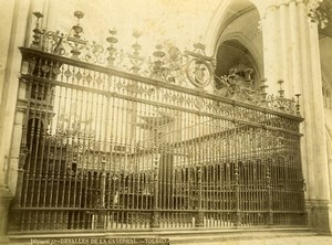 Spain Toledo Cathedral Catedral Detail Old Photo Alguacil 1870
