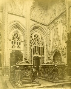 Spain Toledo Cathedral Tomb Family Alvaro de Luna Sepulcros Photo Alguacil 1870