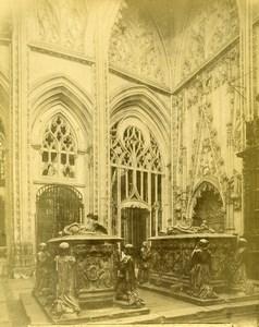 Spain Toledo Cathedral Tomb Family Alvaro de Luna Sepulcros Photo Alguacil 1870