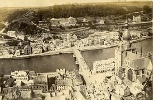 Belgium Dinant General View Panorama River Meuse Old Photo 1890