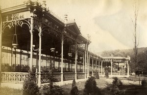 Belgium Spa Garden Galerie Leopold Gallery Old Photo 1890