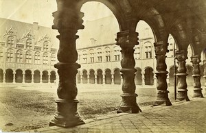 Belgium Liege Luik Prince-Bishops' Palace Court of Honour Old Photo 1890