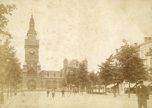 Belgium Antwerp Central Square Belfry Tramway Old Photo 1900