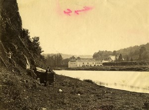 Belgium Freyr Castle Meuse River Old Photo 1890
