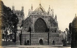 United Kingdom Exeter & Canterbury Cathedral 2 Old Photos Francis Frith 1870