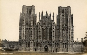 United Kingdom York Minster Choir & Wells Cathedral 2 Old Photos Frith 1870