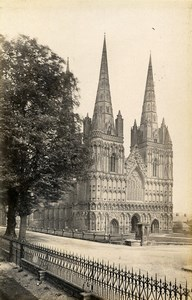 United Kingdom Lichfield Percy Shrine Beverley 2 Old Photos Francis Frith 1870