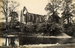 United Kingdom Fountains Abbey Crypt & Bolton Abbey 2 Old Photos Frith 1870
