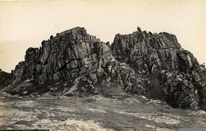 United Kingdom Castle Treryn Rocks & Cornwall Lands 2 Old Photos Frith 1870