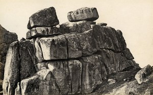 United Kingdom Logan Rock & Launceston Castle 2 Old Photos Francis Frith 1870