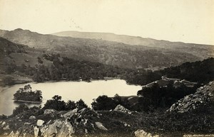 United Kingdom Rydal Water & Grasmere 2 Old Photos Francis Frith 1870
