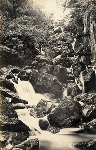 United Kingdom Ambleside Stock Ghyll Force Lodore Falls 2 Old Photos Frith 1870