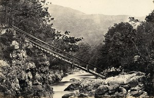 United Kingdom Betws-y-Coed Fairy Glen & Miners Bridge 2 Old Photos Frith 1870