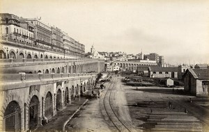 Algeria Algiers & Belgium Brussels Town Hall 2 Old Photos Francis Frith 1870